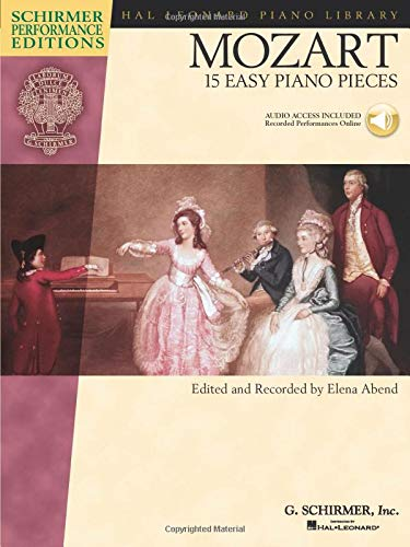 9781423420347: Mozart - 15 Easy Piano Pieces (Schirmer Performance Editions Series) with online audio