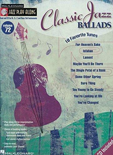 9781423426158: Classic Jazz Ballads: Jazz Play-Along Volume 72 (Jazz Play Along Series)