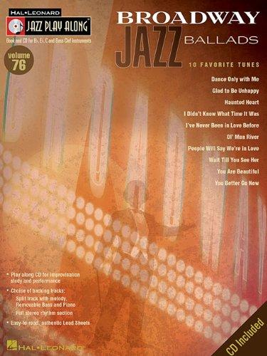 9781423426455: Broadway Jazz Ballads: Jazz Play-Along Volume 76 (Hal Leonard Jazz Play-Along)