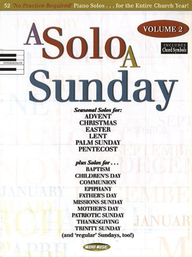 9781423427001: A Solo a Sunday - Volume 2: Piano Solo (Book)