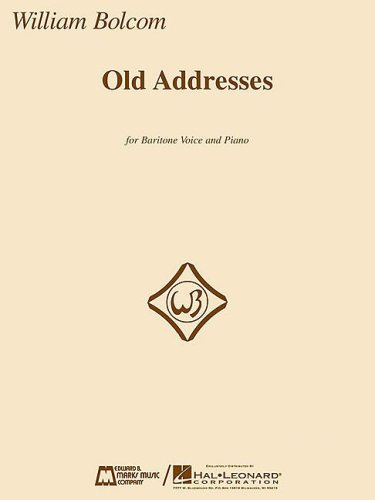 9781423427032: Old Addresses: for Baritone and Piano