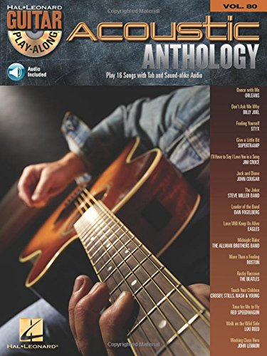 9781423430681: Acoustic Anthology: Guitar Play-Along Volume 80 (Hal Leonard Guitar Play-Along)
