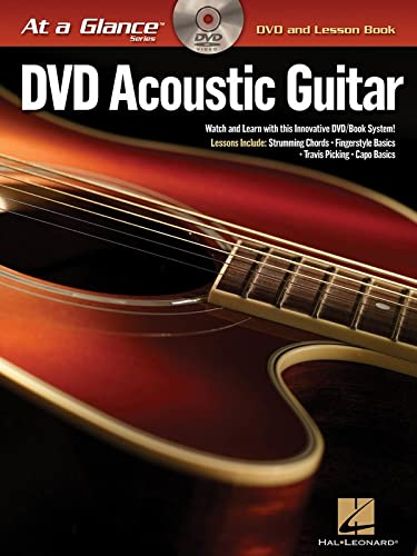 9781423433064: Acoustic Guitar BK/DVD At a Glance Series DVD and Lesson Book (At a Glance (Hal Leonard))