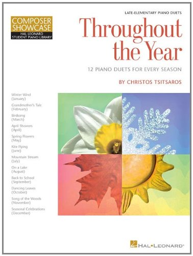 9781423435389: Throughout the Year 12 Piano Duets for Every Season HLSPL Composer Showcase L3