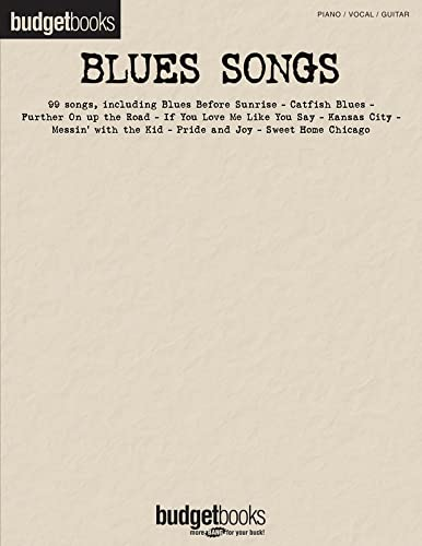 9781423436195: Blues Songs Budget Books