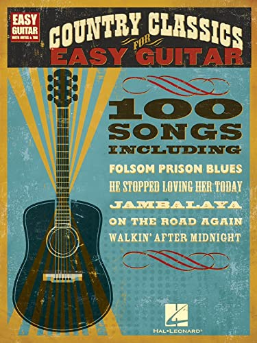 9781423436522: Country Classics for Easy Guitar (Easy Guitar with Notes & Tab)