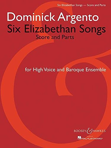 9781423437833: Six Elizabethan Songs: Version for High Voice and Baroque Ensemble