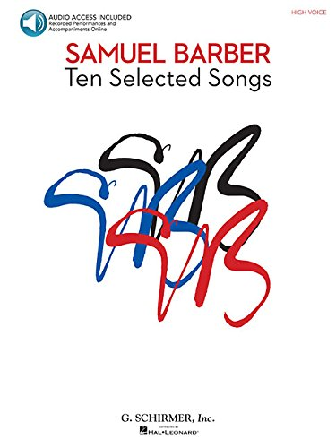 10 selected Songs (+CD) : for high voiceand piano: Samuel Barber