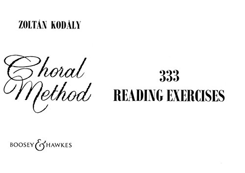 333 Reading Exercises: Kodaly, Zoltan (cop)