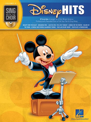 9781423439875: Disney Hits - Sing With The Choir Vol. 8 BK/CD