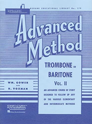 9781423444312: Rubank Advanced Method - Trombone or Baritone, Vol. 2 (Rubank Educational Library)