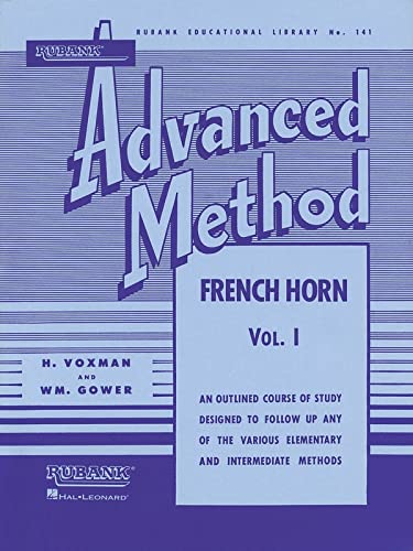 9781423444381: Rubank Advanced Method - French Horn in F or E-flat, Vol. 1 (Rubank Educational Library)