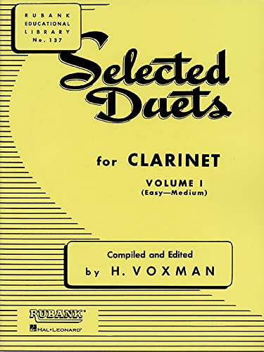9781423445326: Selected Duets for Clarinet, Volume I: (Easy-Medium): 1 (Rubank Educational Library)