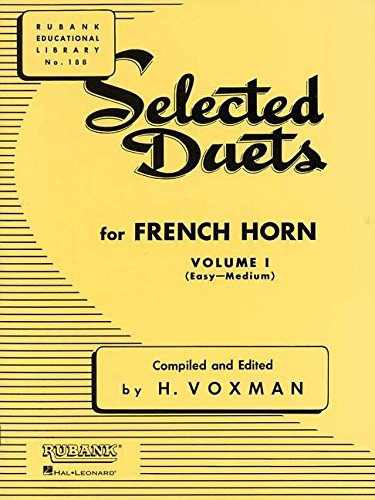 9781423445371: Selected Duets for French Horn: Volume 1 - Easy to Medium (Rubank Educational Library)