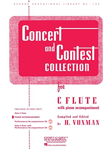 9781423445432: Concert and Contest Collection for C Flute: Piano Accompaniment (Rubank Educational Library)