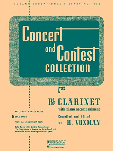 9781423445449: Concert and Contest Collection for Bb Clarinet: Solo Book Only