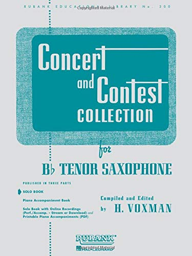 9781423445517: Concert and Contest Collection for Bb Tenor Saxophone: Solo Book Only