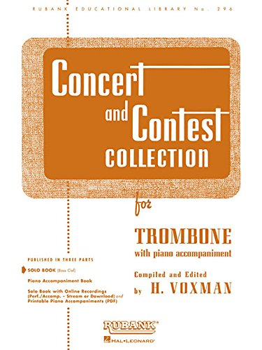 9781423445586: Concert and Contest Collections: Trombone - Solo Part (Rubank Educational Library)