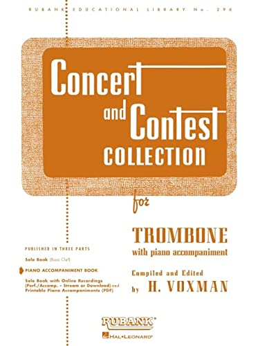 9781423445609: Concert and Contest Collection: Trombone - Piano Accompaniment (Rubank Educational Library)