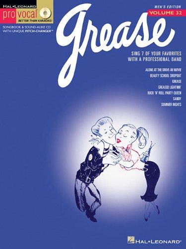 Grease Vol. 32 Bk/CD Pro Vocal Series Male Singers (Pro Vocal Men's Edition): Hal Leonard