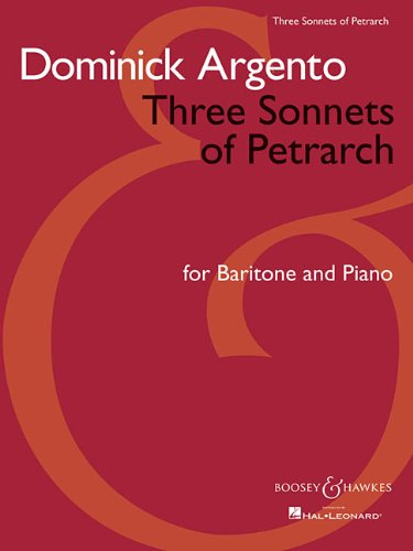 9781423453284: THREE SONNETS OF PETRARCH - BARITONE AND PIANO