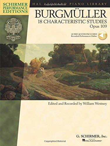 9781423458135: Johann Friedrich Burgmuller - 18 Characteristic Studies, Op. 109.