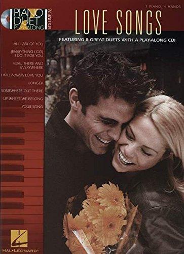 Piano Duet Play-Along Volume 26: Love Songs (Book & CD): 64: Hal Leonard Publishing Corporation