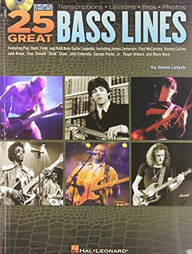 9781423460565: 25 Great Bass Lines: Transcriptions * Lessons * Bios
