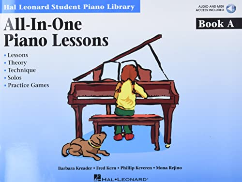 9781423461111: All-in-One Piano Lessons Book A: Book with Audio and MIDI Access Included (Hal Leonard Student Piano Library (Songbooks))
