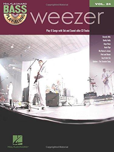 9781423463177: Bass Play Along Vol.24 Weezer Tab CD (Hal Leonard Bass Play-Along)
