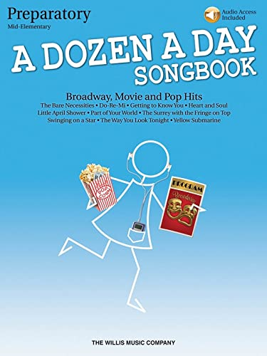 9781423475620: A Dozen A Day Songbook - Preparatory (Book/Online Audio)