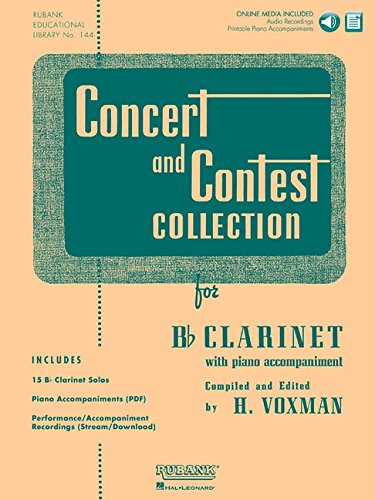 9781423477181: Concert and Contest Collection for Bb Clarinet: Solo Book with Online Media (Rubank Educational Library)