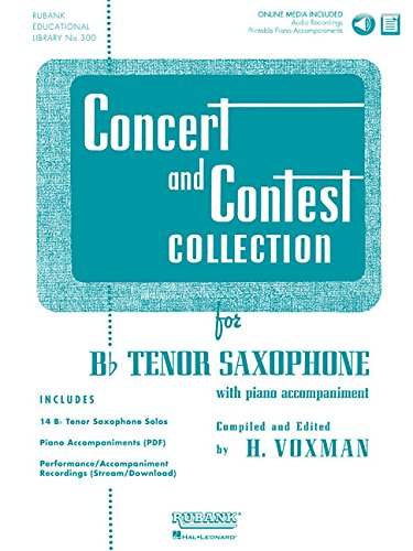 9781423477204: Concert and Contest Collection for Bb Tenor Sax - Book/CD Pack