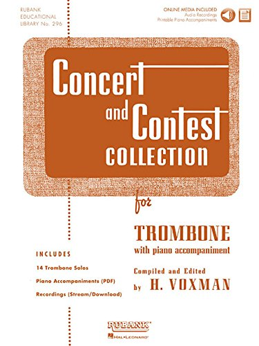 9781423477242: Concert and Contest Collection for Trombone: Solo Book with Online Media
