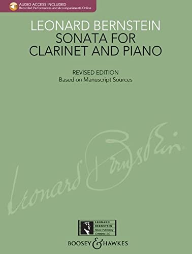 9781423482741: Sonata For Clarinet And Piano With CD Of Performance And Accompaniment New Edition