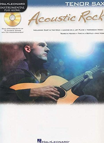 9781423487814: Instrumental Play-Along: Acoustic Rock (Tenor Saxophone) (Play Along Book & CD)