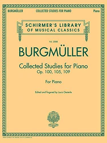 Johann Friedrich Burgmuller - Collected Studies for Piano: Op. 100, 105, 109 Schirmer's ...