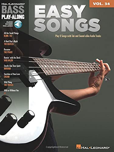 9781423491224: Bass Play Along Easy Songs: 34 Book and Online Audio (Hal Leonard Bass Play-Along) (Includes Online Access Code)