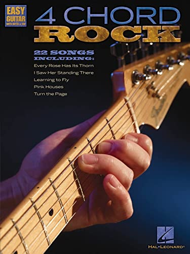 9781423492375: 4 Chord Rock: Easy Guitar with Notes & Tab