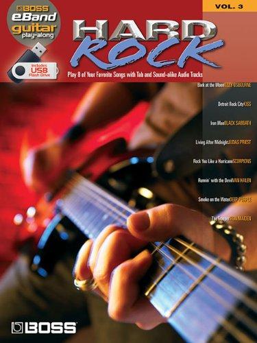 Boss Eband Guitar Play Along Vol.3 Hard Rock Usb (Book & Usb): Collectif