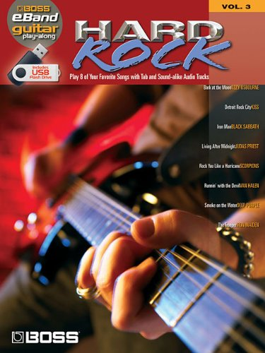 HARD ROCK GUITAR PLAY-ALONG VOLUME 3 (ROLAND EBAND CUSTOM BOOK WITH USB STICK): Hal Leonard Corp.