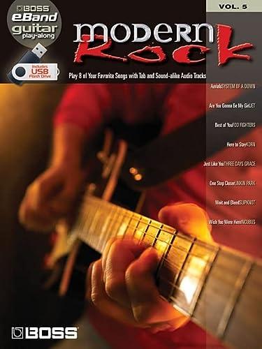 9781423494102: MODERN ROCK GUITAR PLAY-ALONGVOLUME 5 (ROLAND EBAND CUSTOM BOOK WITH USB STICK)