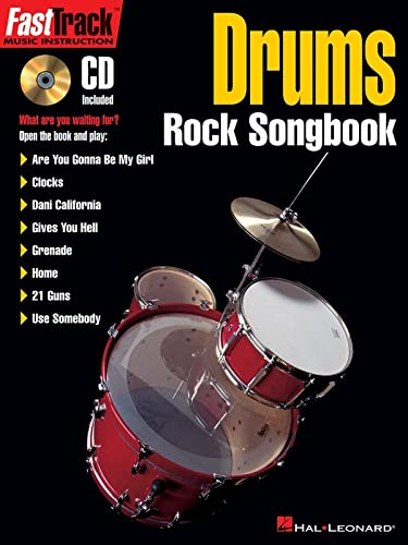 9781423495741: Fasttrack Drums: Rock Songbook (Book & CD)