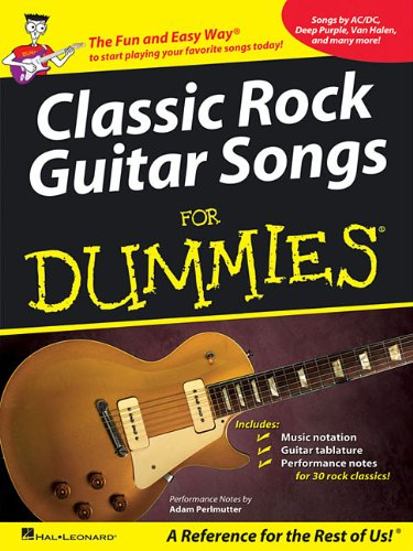 9781423495765: Classic Rock Guitar Songs for Dummies