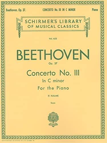 9781423495796: Concerto No. 3 in C Minor, Op. 37 (2-Piano Score): Schirmer Library of Classics Volume 623 National Federation of Music Clubs 2014-2016 Piano Duet (Schirmer's Library of Musical Classics)