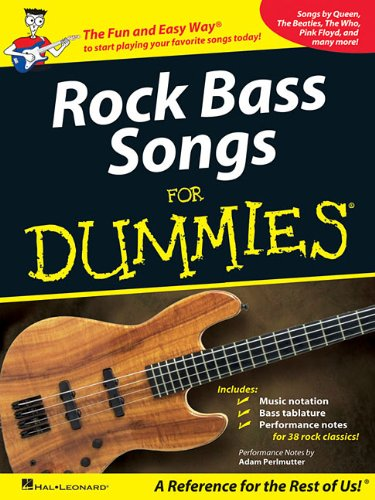 9781423495840: Rock Bass Songs for Dummies Guitare Basse