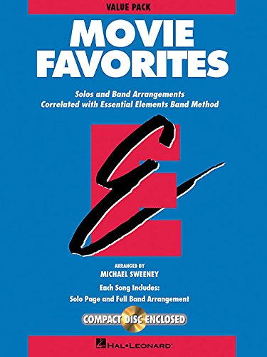 9781423498223: Essential Elements Movie Favorites: Value Pak (37 part books, conductor score & CD)