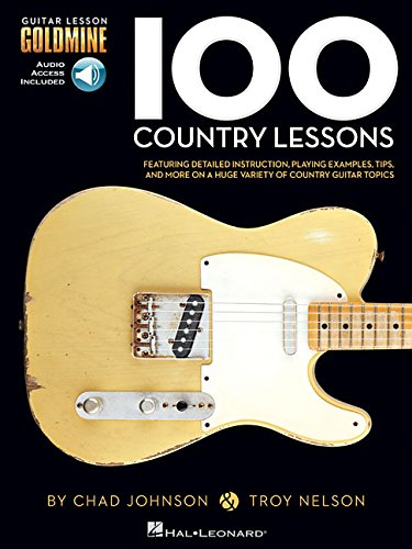 9781423498810: 100 Country Lessons Guitare +CD (Guitar Lesson Goldmine)