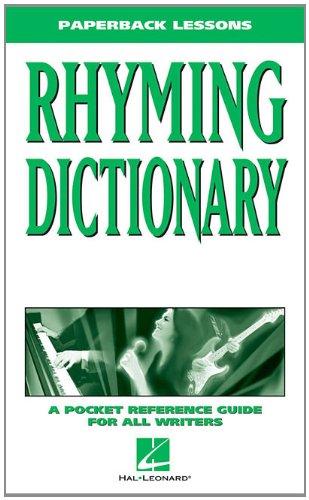 Paperback Rhyming Dictionary: Hal Leonard Corp.