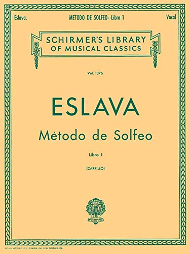 9781423499824: METODO DE SOLFEO LIBRO 1 VOCAL SPANISH (Schirmer's Library of Musical Classics)